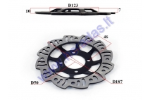 Front brake disc for 125/150cc motorcycle