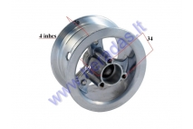Rear rim for mini quad bike 4 inch