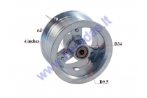 Front rim for mini quad bike 4 inch