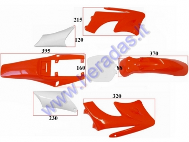 Plastic cover set for mini motorcycle 50cc DELTA design