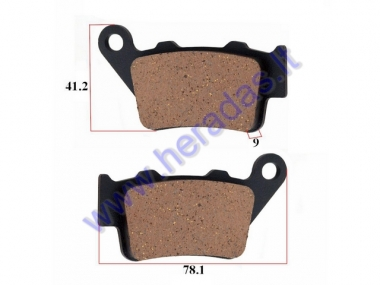 Brake pads for motorcycle KTM EXC 530,525, Husaberg50313030100, 50313090000
