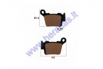 Brake pads for motorcycle KTM EXC 530,525 FA368
