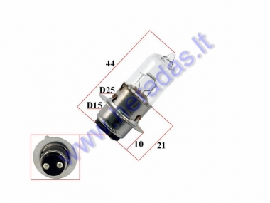 Light bulb moto 12V 35/35W P15D-25-1 MH6