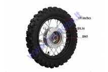 Front wheel 10 inch fits mini motorcycles 50-100cc BULL, STORM