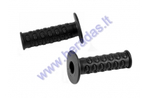 Rubber handlebar grips for motorcycle