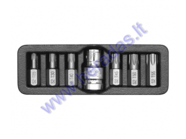 7 piece torx bit set T25, T30, T40, T45, T50, T55 L=30mm