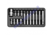 15 piece hexagon bit set  H4, H5, H6, H7, H8, H10, H12 L=30mm, L=70mm