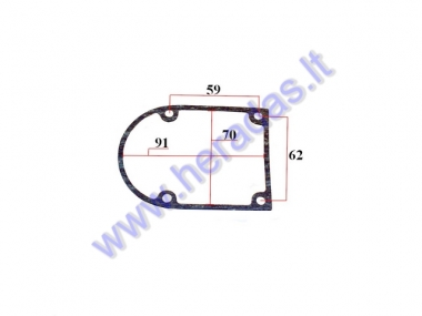 Gasket for motorized bicycle engine generator cover for 50-80cc engine