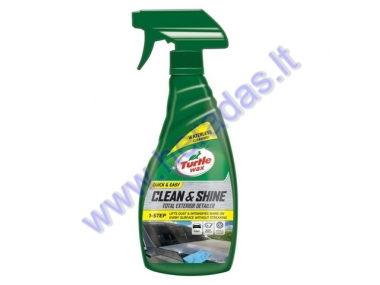 TURTLE WAX QUICK & EASY CLEAN AND SHINE TOTAL EXTERIOR DETAILER  500ml  TW53033