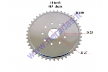 Rear sprocket for motorized bicycle 44 teeth