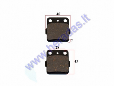 BRAKE PADS FOR MOTORCYCLE HONDA, KAWASAKI, SUZUKI, ARCTIC CAT, YAMAHA
