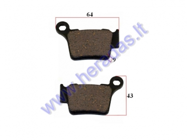 BRAKE PADS FOR MOTORCYCLE KTM EXC 530,525 Husqvarna