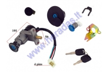KEY SWITCH SET FOR SCOOTER 50-125cc