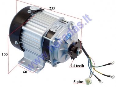 Electric Brushless Motor for Quad Bike 500w 48V