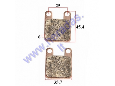 Brake pads for motocycle