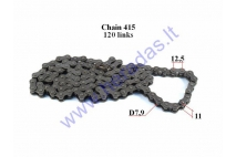 CHAIN FOR 50-80CC MOTORCYCLE-MOPED ROLLER7,9 L120 DID JAPAN CHAIN TYPE 415