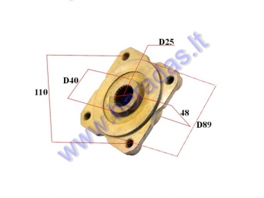 REAR WHEEL HUB FOR ATV QUAD BIKE D25