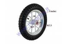 Rim with tyre for 50cc motorcycle