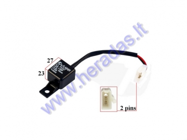 RELAY WITH WIRE 2 PINS FOR SCOOTER, LED TURN SIGNAL LIGHT UP TO 10W