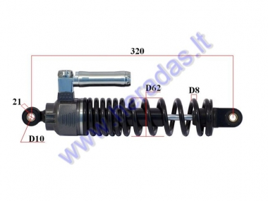 SHOCK ABSORBER FOR ELECTRIC SCOOTER L320 FIT TO HAWK