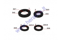 OIL SEAL SET FOR SCOOTER GY6 125-150cc 19/32/6 27/42/7 19.8/30/5