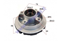 REAR WHEEL HUB 4 HOLE WITH BUSHING FOR MOPED Delta