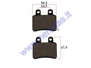 BRAKE PADS FOR SCOOTER  DERBI, PEUGEOT, ITALJET, HONDA, RIEJU, YAMAHA