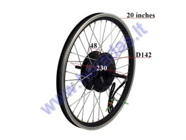 Rear wheel with motor for electric bicycle 36V 250W  Electron EB18