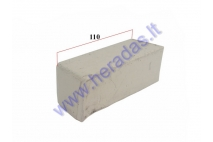 White polishing paste bar for metal