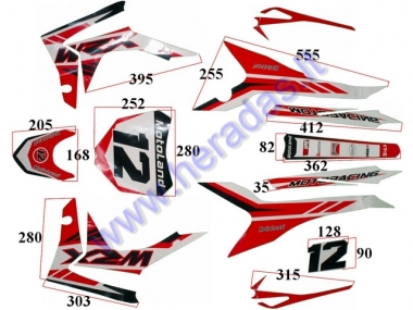 STICKER DECAL SET, FIT TO MTL250