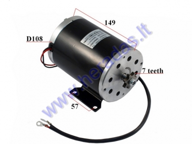 Motor for electric quad bike CRUSADER 36V 1000w