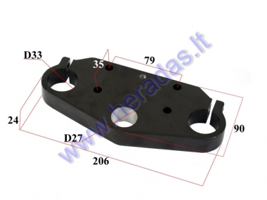 FORK BRACE CLAMP for ELECTRIC MOTOR SCOOTER CITYCOCO