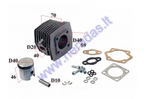 CYLINDER+PISTON SET FOR 50CC MOTORIZED BICYCLE  D40