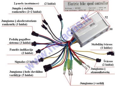 Controller for electric bicycle 36V  EB18 EB19  SY-WZK036-250-3