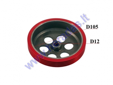 CLUTCH DRUM FOR SCOOTER RACING 105mm D12 Minarelli, Yamaha, MBK, Malaguti, Beta, Derbi