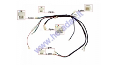 Wiring assembly (wire harness) for 110-125cc motorcycle with electric starter