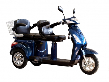 2-seat electric trike scooter, tandem mobility scooter Electron MS04