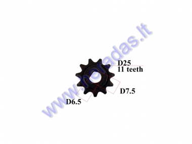 Front sprocket for electric engine quad bike 11 teeth outer d25