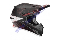 MOTORCYCLE CROSS HELMET THOR BLACK/CORAL S8S SECTOR HYPE HELMET