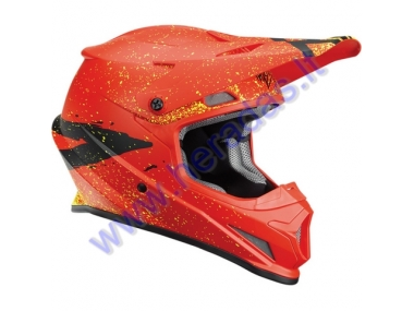 MOTORCYCLE CROSS HELMET THOR RED/BLACK S8S SECTOR HYPE HELMET