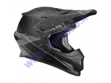 MOTORCYCLE CROSS HELMET THOR BLACK/CHARCOAL S8S SECTOR HYPE HELMET