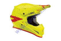 MOTORCYCLE CROSS HELMET THOR FLUORESCENT ACID/RED S8S SECTOR HYPE HELMET
