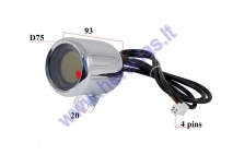ELECTRIC MOTOR SCOOTER PANEL - SPEEDOMETER, ODOMETER, CHARGE INDICATOR 60V FIT TO CITYCOCO