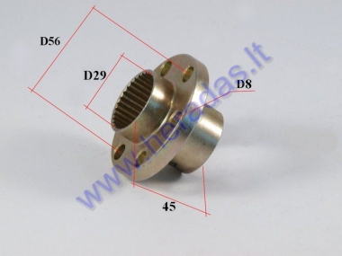 Sprocket spacer for quad bike