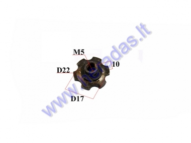CLUTCH COVER NUT FOR MOTORIZED BICYCLE 50-80CC ENGINE (USE TOGETHER WITH CBF50151)