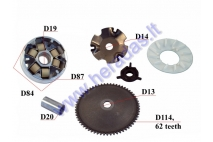 Variator for scooter 50cc GY6 8,5gr 4T