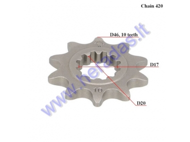 FRONT SPROCKET 10 TEETH 420 CHAIN Minarelli AM6