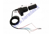 Throttle (handlebar grip) for electric quad bike