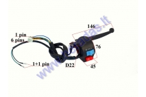 HANDLEBAR SWITCH ASSEMBLY FOR SCOOTER LIGHTS/STARTER, WITH HANDLEBAR  6+2+1 pin