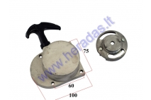 Pull starter for motorized bicycle